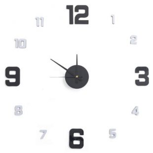 Nalepovací hodiny na zeď G21 Metalic Style
