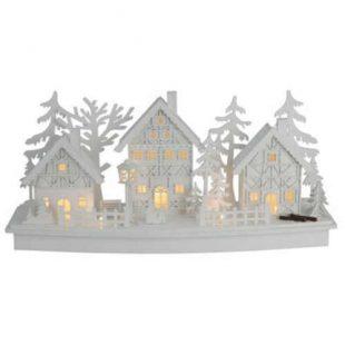Dřevěná LED vánoční dekorace